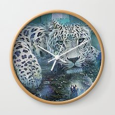 Leopard Abstract Wall Clock