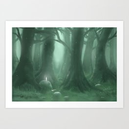 A Great Forest Art Print