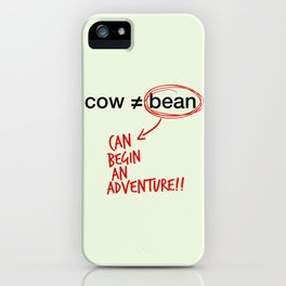 cow and bean iPhone Case