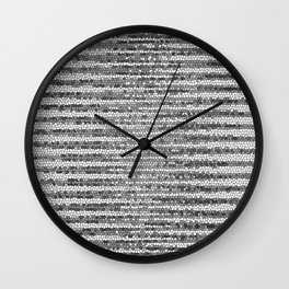 Abstract Stripes Black White Wall Clock