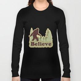 Bigfoot Believe Long Sleeve T-shirt