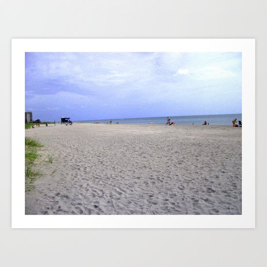 Fun On Beach Art Print