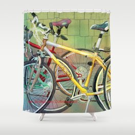 Bicycle Therapy Focus Shower Curtain