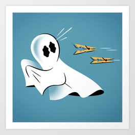 A Fearful Phantom (Teal) Art Print