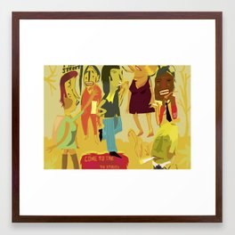 Come to New York and Smoke on the Streets Framed Art Print