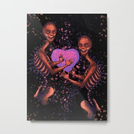 The Little Monster on Fire Metal Print