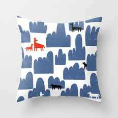 Animal World Throw Pillow
