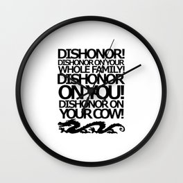 Dishonor Wall Clock