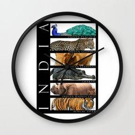 Animals of India Wall Clock