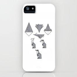 Origami Penguin iPhone Case