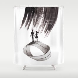 Infinity of love Shower Curtain