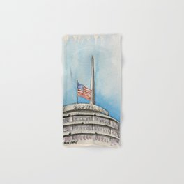 Capitol Records Building Hand & Bath Towel