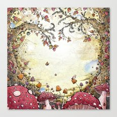 A Watchful Forest Canvas Print