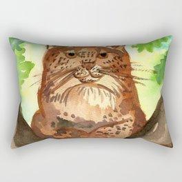 Lynx in the Forest Rectangular Pillow