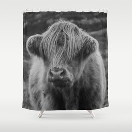 Highland cow III Shower Curtain