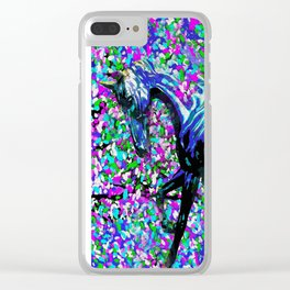 Horse Beneath the Petals Clear iPhone Case