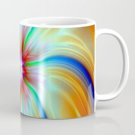 Streamers and Flares in Blue Orange and Red Coffee Mug