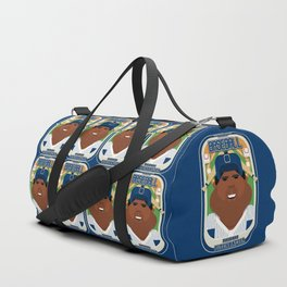 Baseball Blue Pinstripes - Rhubarb Pitchbatter - Hayes version Duffle Bag