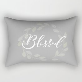 Blessed with Wreath Rectangular Pillow