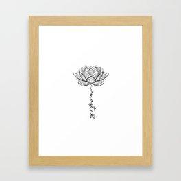 Namaste Lotus Flower Framed Art Print