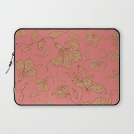 Coral Classic Floral Laptop Sleeve