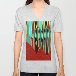 Love Exotic Hearts Unisex V-Neck