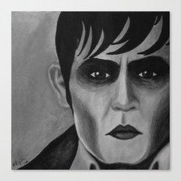 Barnabas Collins - Dark Shadows - Johnny Depp Canvas Print