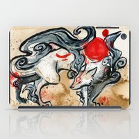 okami iPad Cases featuring OKAMI by Rubis Firenos