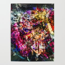 Abstract Blam Poster