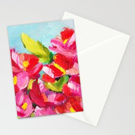 Abstract Pink Floral Stationery Cards