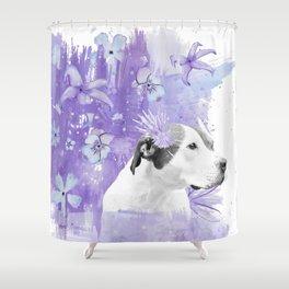 Sugarplum Pitbull Shower Curtain