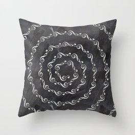 Sol key swirl on chalkboard Throw Pillow