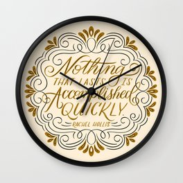 Rachel Hollis Perseverance Quote Wall Clock