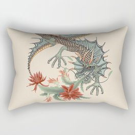 Botanical Flower Dragon 8 Rectangular Pillow