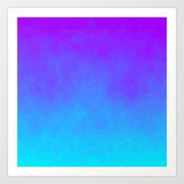 Blue and Purple Ombre - Swirly - Flipped Art Print