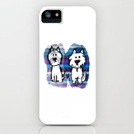 Two very serious Westies iPhone Case