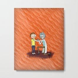 rick morty Metal Print