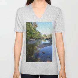 Where Canoes and Raccoon Go Series, No. 24 Unisex V-Neck