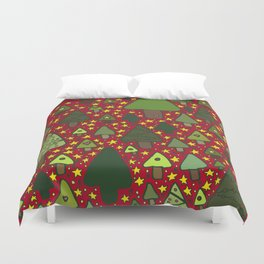 Small Trees Duvet Cover