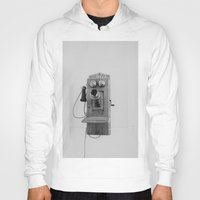 telephone Hoodies featuring Vintage Telephone by KimberosePhotography
