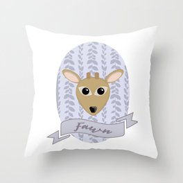 Fraulein Fawn Throw Pillow