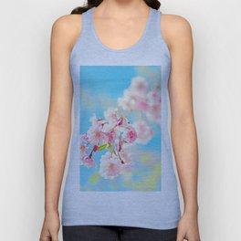 Spring Cherry Blossom Unisex Tank Top