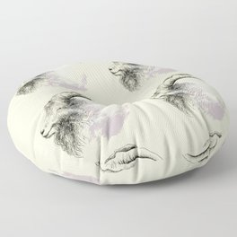 Mountain goat Ram portrait head Floor Pillow