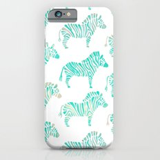Zebras – Mint Palette iPhone 6s Slim Case