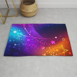 Bright Abstract Background with Stars Rug
