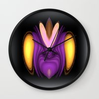 alien Wall Clocks featuring Alien by Chris' Landscape Images & Designs