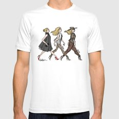 Fashion Girls White MEDIUM Mens Fitted Tee