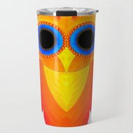 colourful owl Travel Mug