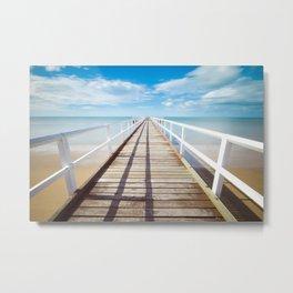 Pier sky 4 Metal Print