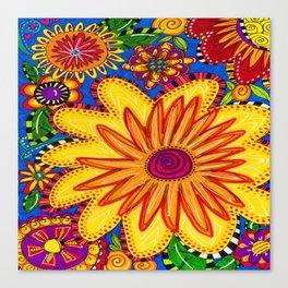 Doodle Garden Canvas Print